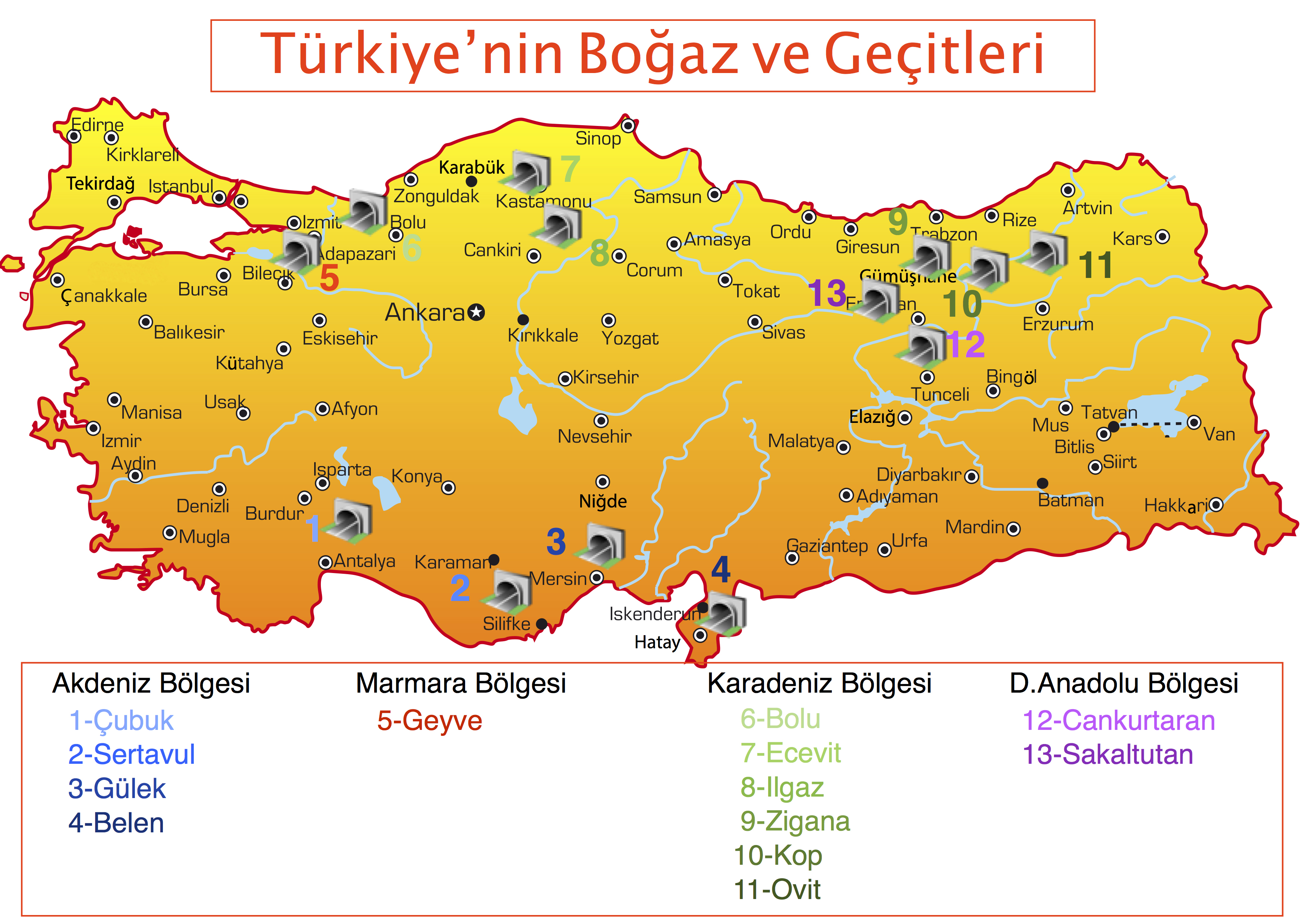Türkiye'nin önemli geçitlerine bakış