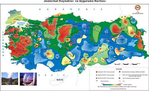 Ege Bölgesi sıcak su kaynakları ve jeotermal enerji bakımından ilk sırada yer alır.
