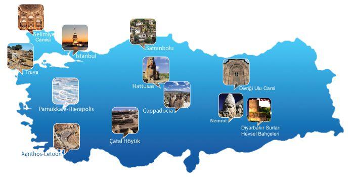 UNESCO Dünya Mirası Listesi'ne giren Türkiye'nin kültür varlıkları...