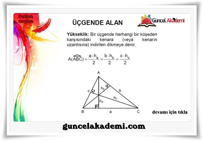 Üçgende Alan