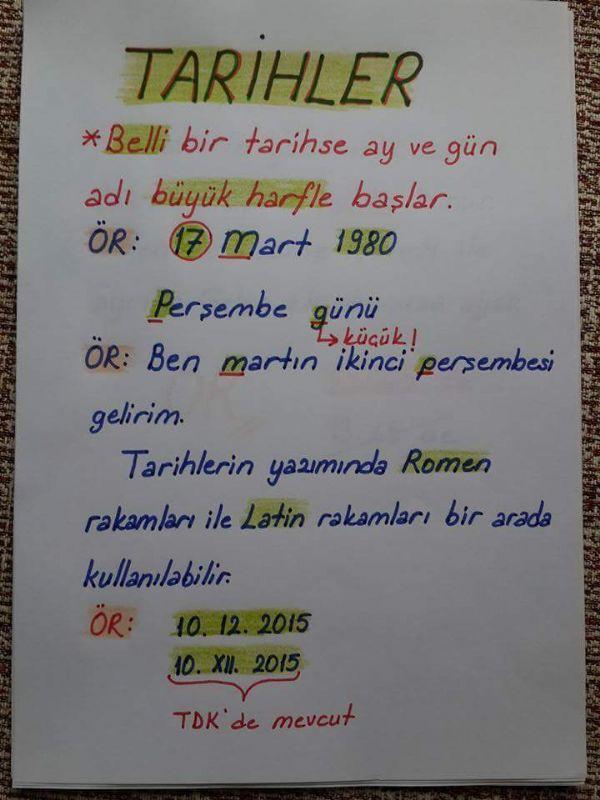 Türkçe - Yazım Yanlışları Kurallları